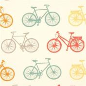 colourful bike retro organic knit fabric birch USA