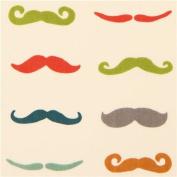 moustache retro organic knit fabric birch USA