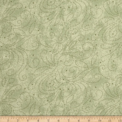 280cm Wide Quilt Backing Scroll Sage Fabric