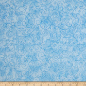 280cm Wide Flannel Quilt Backing Willow Light Blue Fabric