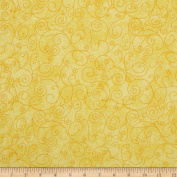 280cm Wide Flannel Quilt Backing Willow Yellow Fabric