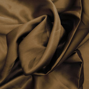 Dark Brown Japanese Satin Fabric Curtain Drape Dress Kimono Sewing Craft 1 Yd