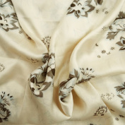 Off White Polyester Satin Fabric Curtain Kimono Sewing Drape Dress By The Yard