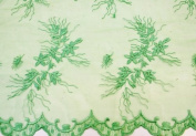 Emerald Green, Lace Fabric Embroidery on Polyester Mesh with Flower Design 140cm Wide