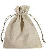25cm x 30cm Natural Linen Favour Bags - 12 Pack