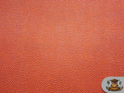 Vinyl Basketball 100cm Wide ORANGE Fake Leather Upholstery Fabric / Sold by the yard