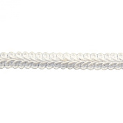 Braid 25-Yard Polyester Roll for Arts and Crafts, 1.3cm Wide, White