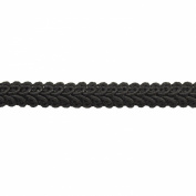 Braid 25-Yard Polyester Roll for Arts and Crafts, 1.3cm Wide, Black