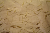 Silk Dupioni Embroidered 150cm Wide, Sold By the Yard