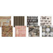 Eclectic Elements 30cm x 30cm Fabric Craft Pack By Tim Holtz 8/P-Labels