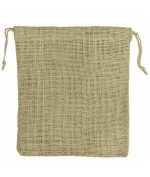 30cm x 36cm Natural Jute Favour Bags - 10 Pack