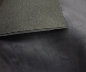 Charcoal Suede Stretch Headlining Foam Backed Fabric 150cm Wide By the Yard