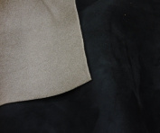 Black Suede Stretch Headlining Foam Backed Fabric 150cm Wide By the Yard