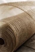50cm Burlap Poly Mesh Roll Woven Natural Jute Fibre Bow Tie Making Wreaths 10 Yards