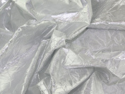 140cm wide Creased Lame Metallic Dress Fabric Silver - per 2 metres