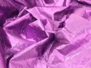 140cm wide Creased Lame Metallic Dress Fabric Purple - per 2 metres