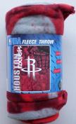 NBA Fleece Throw Houston Rockets Basketball Sports Team Fleece Fabric Throw