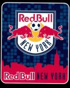 MLS Fleece Throw New York Red Bull Soccer Team Futbol Fleece Fabric Throw