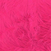 Faux Fur Luxury Shag Hot Pink Fabric