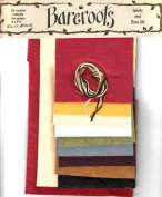 Bareroots Fabric & Floss Kit for Little Stitchies Quilt Blocks Candle Mat