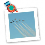 Patricia Sanders Aeroplanes in Flight Sky Photography Square Quilt Sheet, 25cm by 25cm