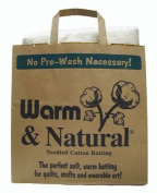 Warm & Natural Cotton Batting Twin Sized