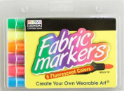 Colortime Crafts and Markers Fabric Markers Economy Pack - Fluorescent