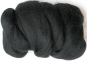 Woolpets felting roving wool black