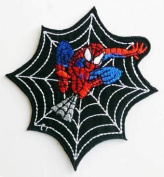 SPIDERMAN Embroidered Easy Iron On SUPERHERO WEB Patch