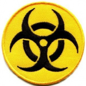 Biohazard Symbol Sign Danger Poison Toxic Warning Applique Iron-on Patch