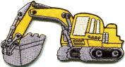 Backhoe Digger Tractor Loader Trackhoe Bulldozer Applique Iron-on Patch