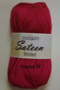 Sateen Worsted Yarn #27 Fuschia by Cascade Yarns