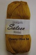 Sateen Worsted Yarn #34 Tawny Olive by Cascade Yarns