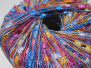 Knitting Fever Dazzle #118 Orange Blue Fuchsia