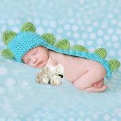Topicker Cute Baby Infant Dinosaur Costume Crochet Knit Photo Prop 0-6 Month Newborn