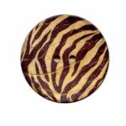 Buttons.etc Exotic Buttons, 12703 - Zebra