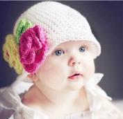 Jewellery Kingdom Infant Toddler Girl Baby Handmade Knit Crochet flowers Hat Cap