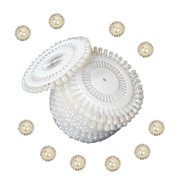 2013newestseller 480pcs White Round Pearl Straight Head Pins+10pcs White Metal Rhinestone Buttons DIY Sets