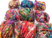 Wild Peacock Recycled Silk Yarn, Reclaimed Silk Yarn, Sari Silk Yarn