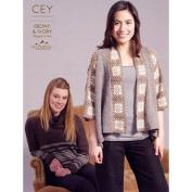 Classic Elite Pattern Book 9204 Ebony & Ivory Vail Yarn