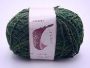 1 Skein Dark Green Boucle Yarn Acrylic Polyamide Blend