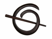 Buttons.etc Exotic Shawl Pins, 40802 - Ebony Spiral