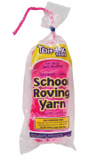 Trait-tex 3-Ply School Roving Yarn Skein, Hot Pink, 240mls