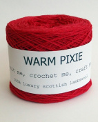 Luxury 100% Soft Scottish Lambswool - Red - For Hand & Machine Knitting, Crochet and Crafting.