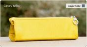 Namaste Canary Yellow Skinny Mini Crochet Hook Double Point Knitting Needles Case