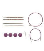 Knit Picks TRY IT Needle Set- Rainbow Wood and Nickel Plated Tips
