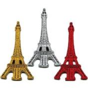 Lot of 3 Eiffel Tower Paris France Retro Boho Europe Appliques Iron-on Patches
