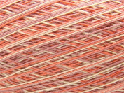 Variegated Misty Rose & Coral Pink Size 10 Crochet Cotton Thread Yarn Knitting. 100% Mercerized