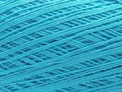 Free Ship Turquoise Size 10 Crochet Cotton Thread Yarn Knitting. 100% Mercerized