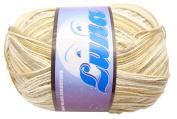 Luna Variegated Khaki Beige Combed Cotton Yarn Thread